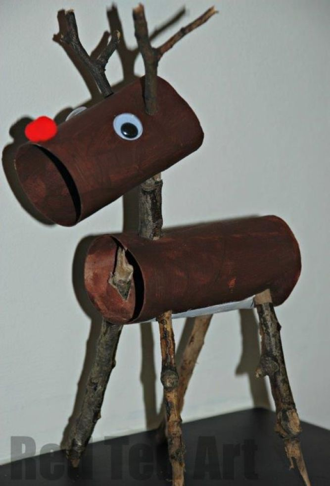 Toilet Roll Rudolph