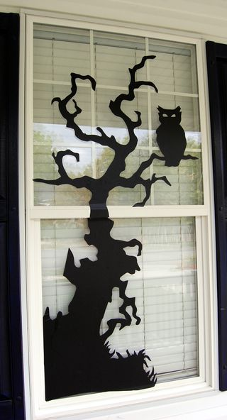 Halloween Window Decor-DIY