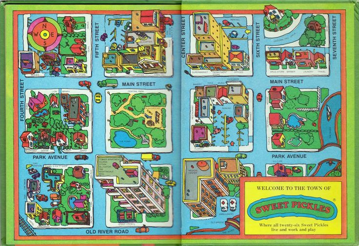 pickles for kids pictures | Town Map For Kids The town of sweet pickles.