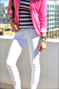 --there you go Al w/ your pink blazer