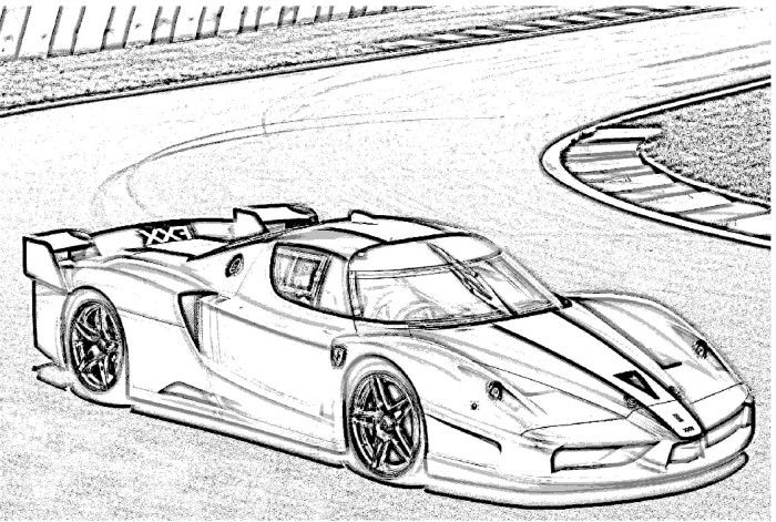 ferrari 8 spider coloring page  car interior design