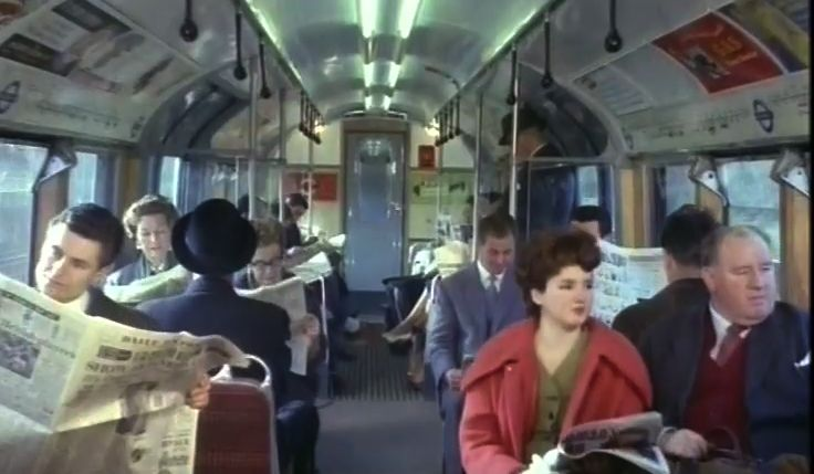 1960s London Underground Tube Commuters