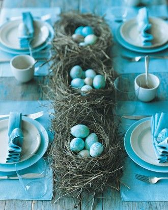 "See the ""Marbleized Egg Table Setting"" in our  gallery"