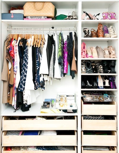a perfectly edited closet, via Design Darling