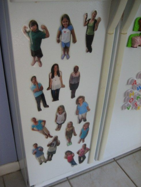 "These magnets are such fun!  And are a perfect way to let your little one ""see"" family members every day!"