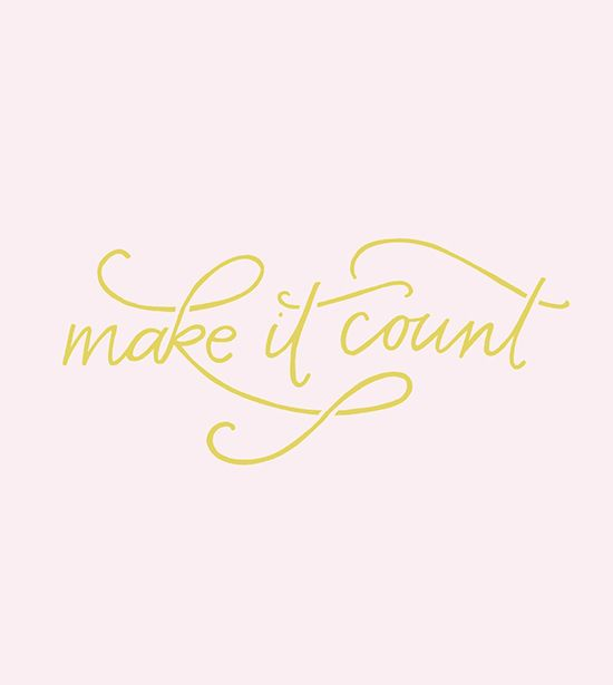 make it count | designlovefest