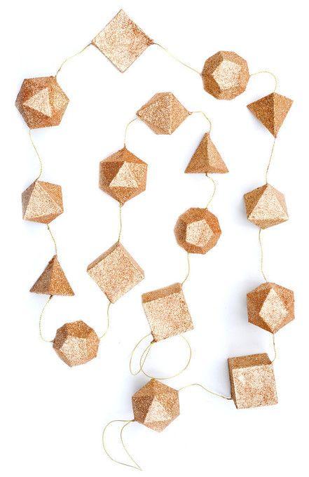 Glittered Geometry Garland / Leif