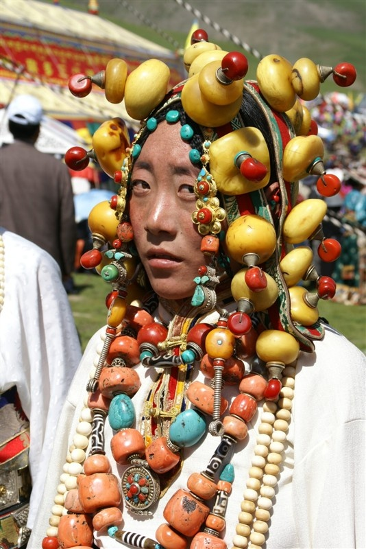 ... and gold jewelry. From the Chengduo horse festival 2009, Kham, Tibet