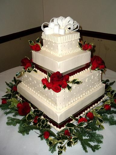 Christmas Wedding Cakes And Christmas Cake Decorating Ideas