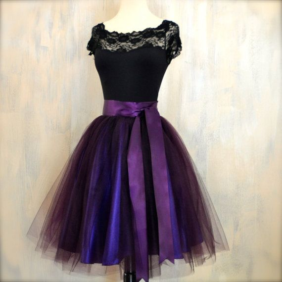 New womens aubergine tulle skirt lined in by TutusChicBoutique, $200.00