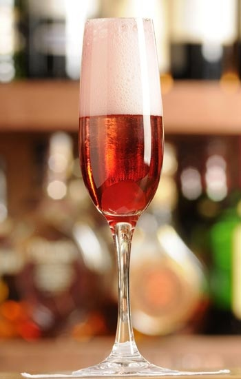 Hudson Valley Royale: (Kir Royale made with local products!) Start with  1/4 to 1/2 oz. Warwick Valley Winery and Distillery's Black Currant Cordial in the bottom of a champagne  flute, slowly pour Brotherhood Blanc de Blancs into the flute, holding glass at an angle, a beautiful cocktail to look at and it tastes delicious!