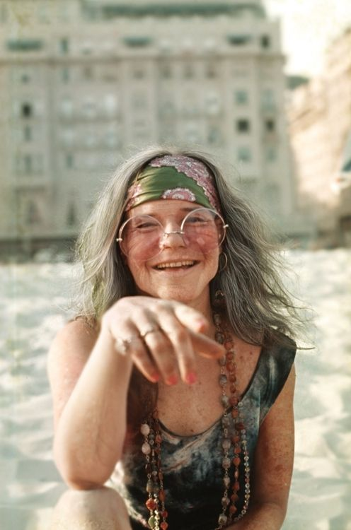 Now here is a real dirty hippie, just kidding. This is one of the most soulful and respect female singers of the 60s. This is the beautiful Janis Joplin and her famous sense of fashion.