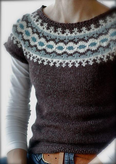 Létt-Lopi Vest by Védís Jónsdóttir, as knit by Sheepurls