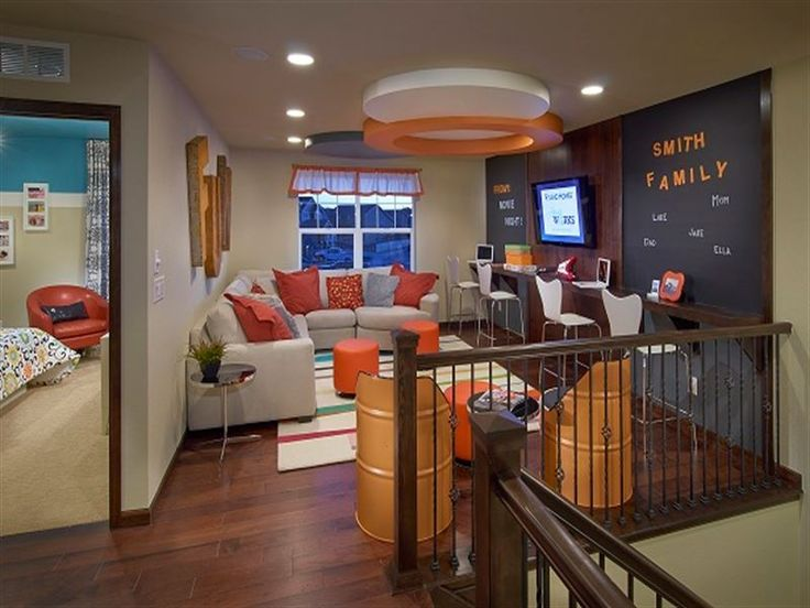 Display technology has come a long way in a decade. TV & Game Room Loft   Home   Pinterest