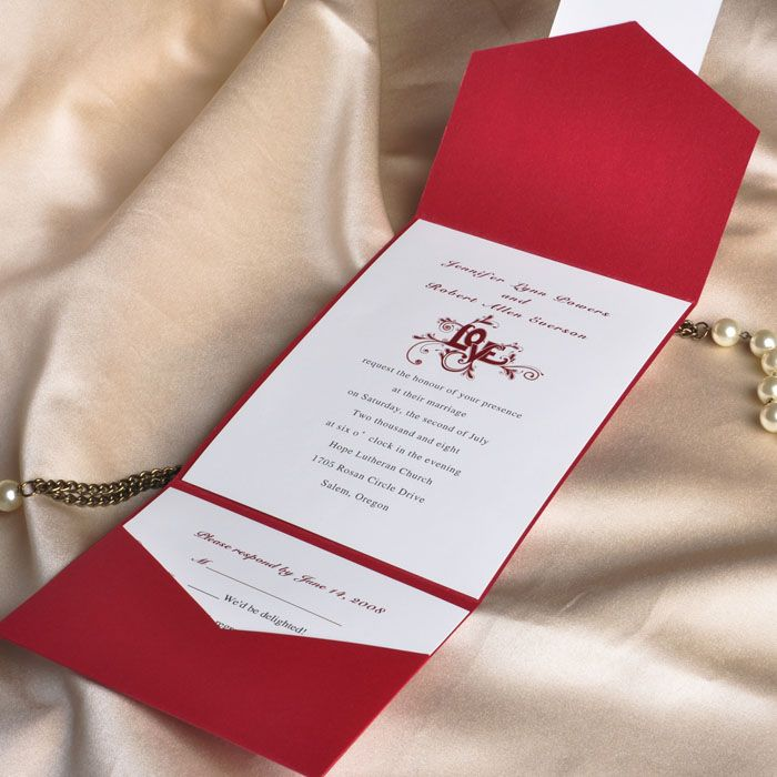Wedding Invitations With Pockets: Smile! You're At The Best