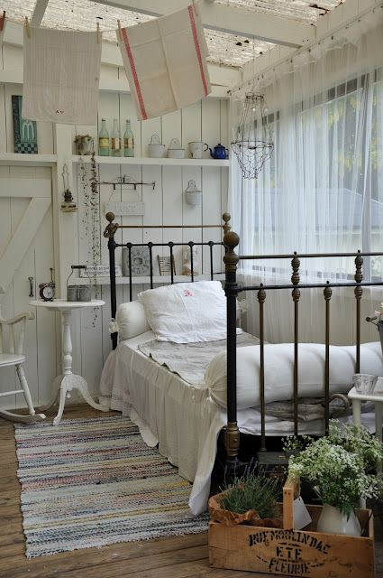 love iron bed with all the white