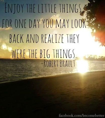 Enjoy the little things quote via www.Facebook.com/BecomeBetter and www.BecomeBetter.tv