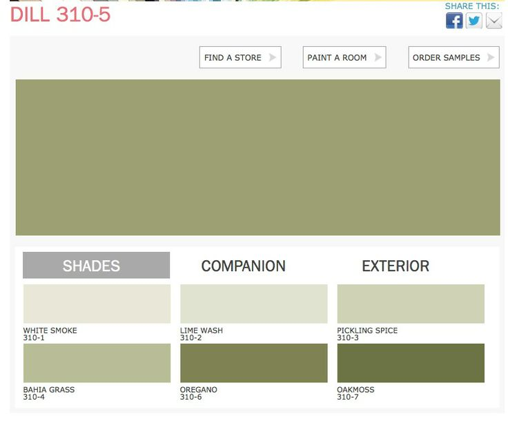 dill color ppg paints home pinterest on lowes interior paint color chart id=27996