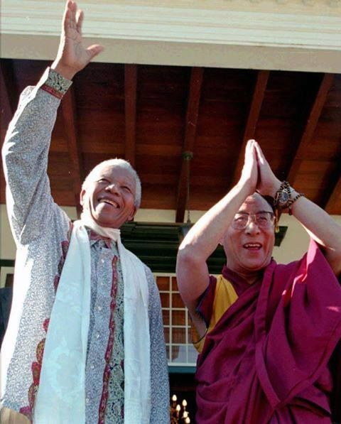 Dalai Lama y Nelson Mandela. Thank you so much :)