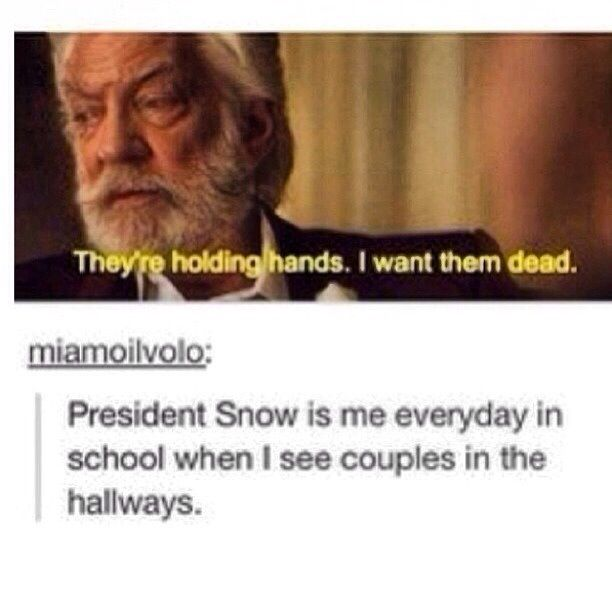 Lol haha funny pics / pictures / President Snow / Hunger Games Humor / Catching Fire / School / Couples / SO TRUE!!