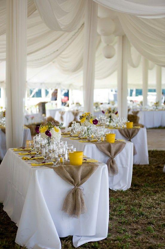 Decora tu boda con arpillera mi boda diy for How to dress a wedding table