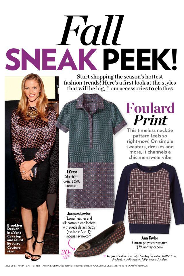 Foulard print is in!