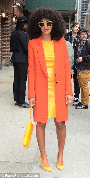 orange and yellow outfit