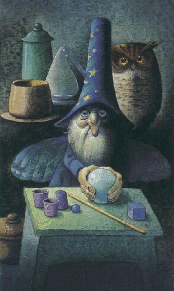 The Magician from Tarocchi dei Folletti / Fairy Tarot illustrated by Antonio Lupatelli & Peter Doyle
