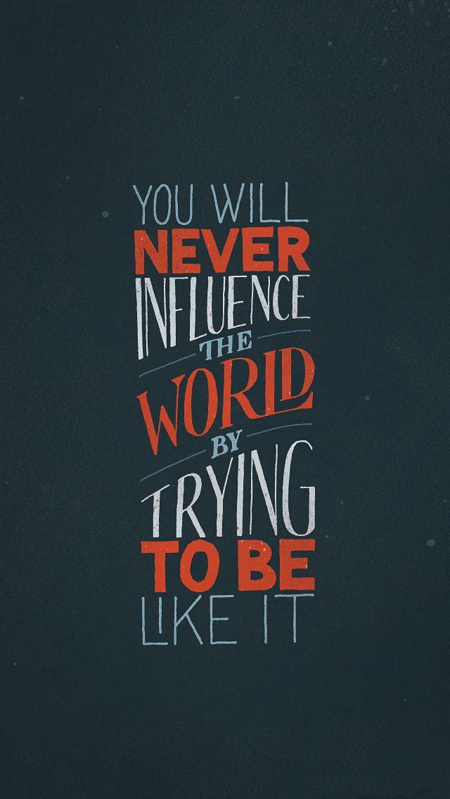 Amen! Be YOU!!