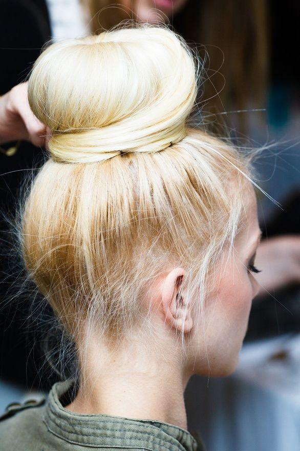 pretty bun #hair