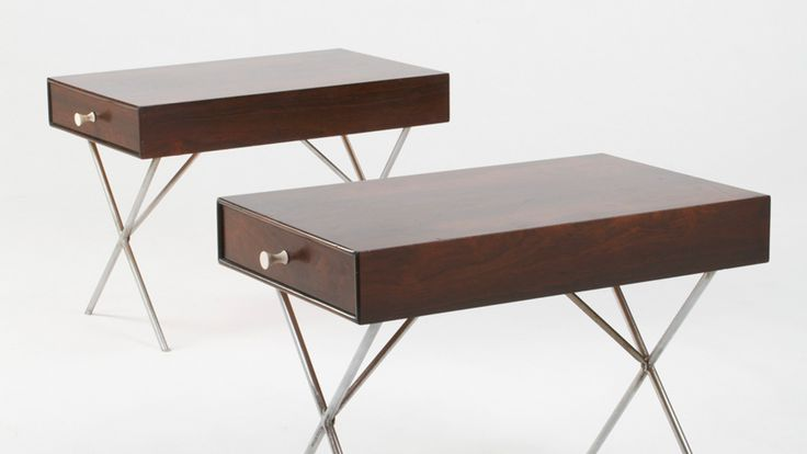 GEORGE NELSON & ASSOCIATES – THIN EDGE END TABLES