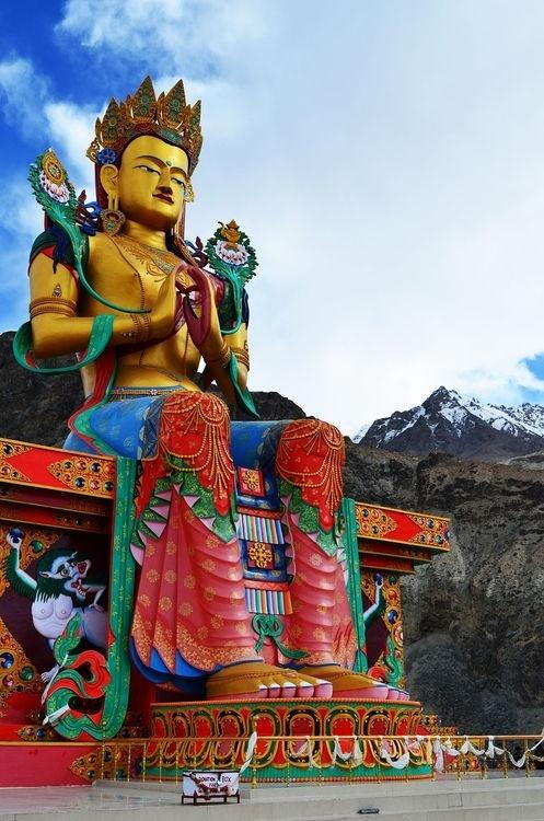 Maitreya Buddha in Nubra valley, India