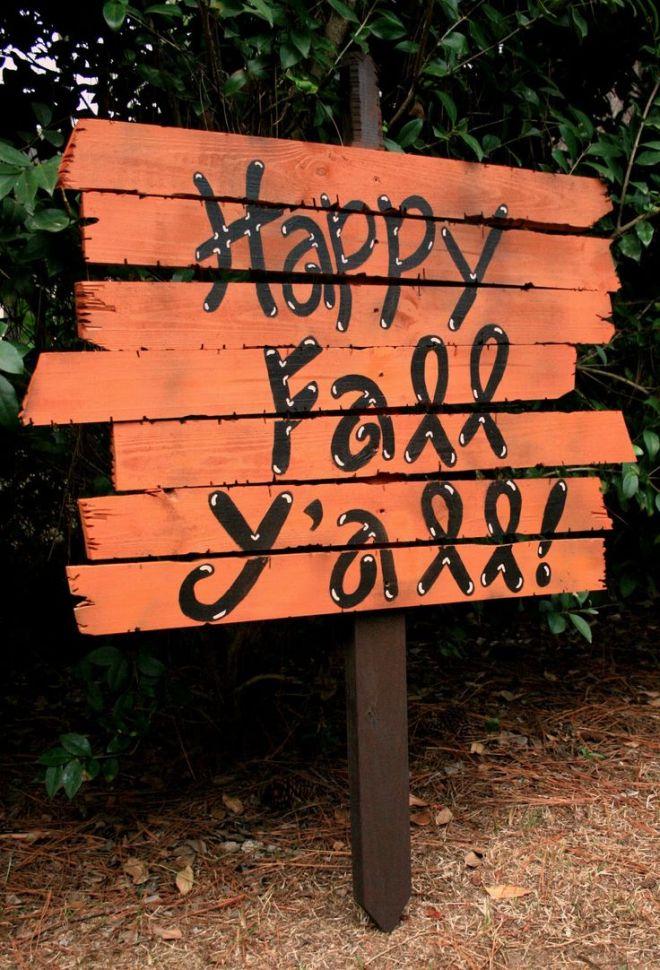 Diy fall yard sign doing this fallhalloween