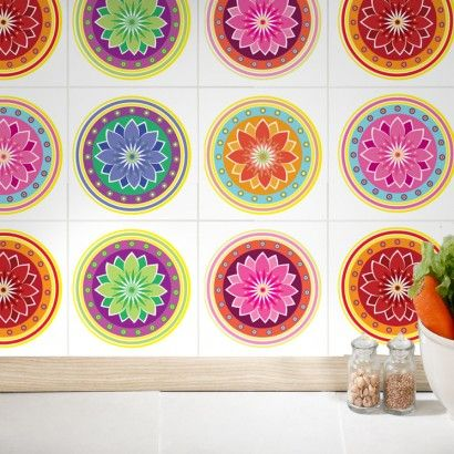 Self Adhesive Wall Tiles Mandalas