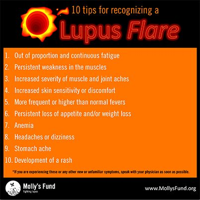 How Do You Recognize a Lupus Flare? Here is a list of 10 things that may help. www.mollysfund.org