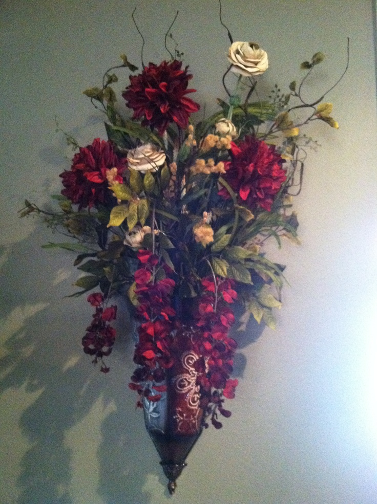 Wall flower sconce | For the Home | Pinterest on Wall Sconces With Flowers id=15269