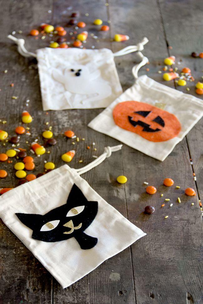 DIY Felt Character Halloween Bags