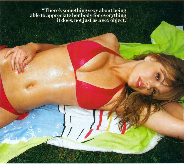 Amiee Teegarden! Such an inspiration. Great body, great quote! (Wish FNL hadn't ended!)
