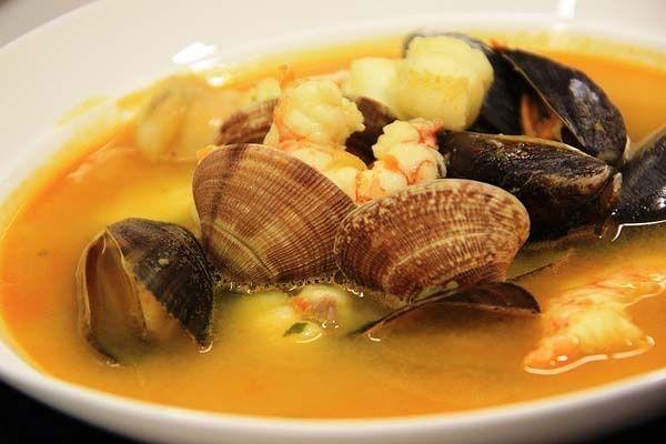 Sopa de Pescado y Marisco en