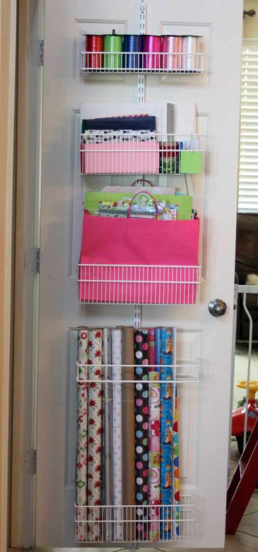 Great idea! what to do with all of that wrapping paper and gift bags.