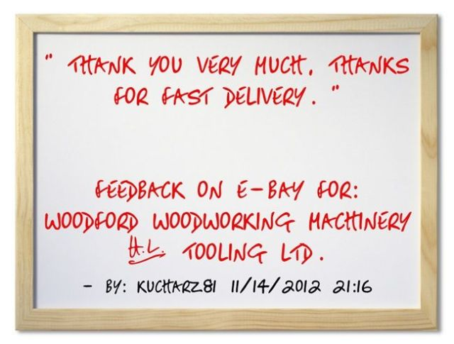for fast delivery. ~kucharz81 http://stores.ebay.co.uk/woodfordwm