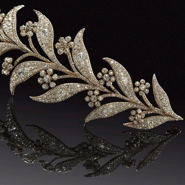 A diamond tiara. Sold for £22,800 inc. premium. Photo: Bonhams.