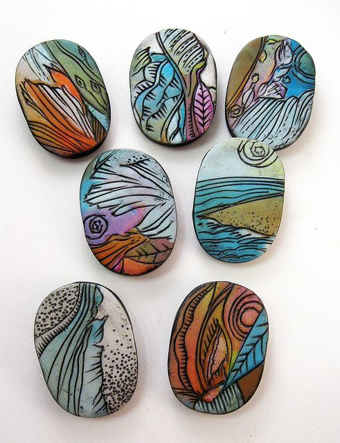 artybecca sketched carved beads