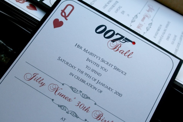 Invitation could be something similar to this