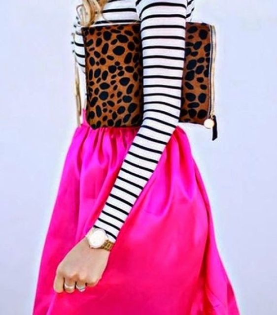 Stripes, Lace, Hot Pink, and Leopard. Finally.