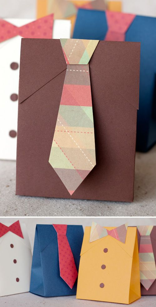 DIY shirt tie gift box with template