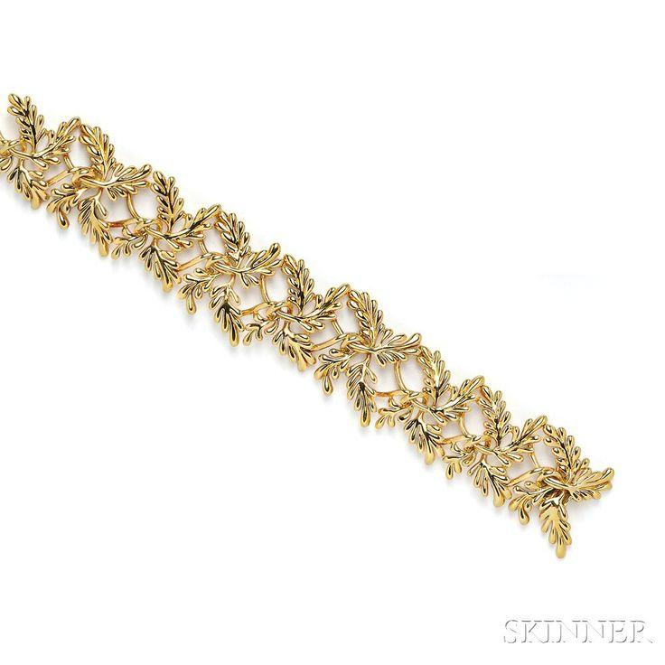 18kt Gold Bracelet, Schlumberger, Tiffany & Co. | Sale Number 2746B, Lot Number 626 | Skinner Auctioneers
