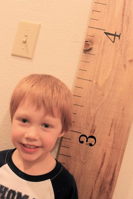 watch out for the woestmans: DIY Ruler Child Growth Chart