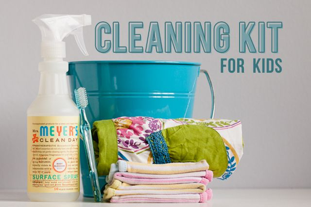 Cleaning with Kids...Cleaning kit to get them involved!