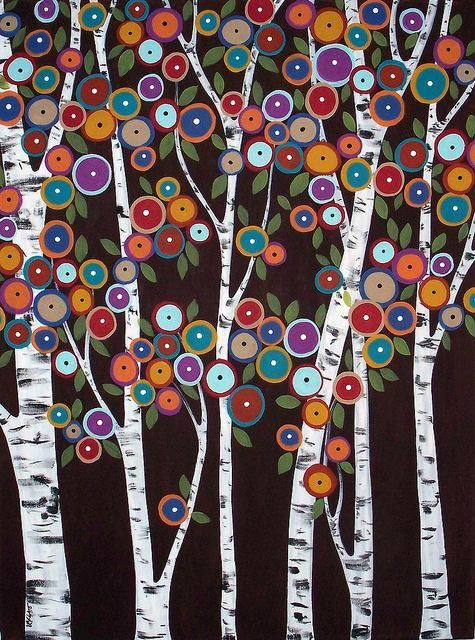 Folk art painting by Karla Gerard